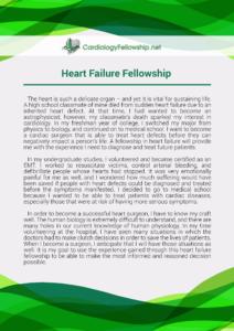 heart failure fellowship personal statement sample