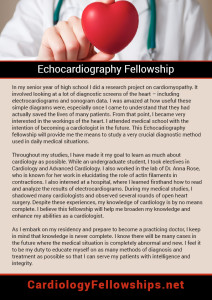Echocardiography Fellowship