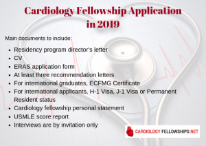 cardiology fellowship application documents